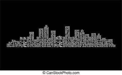 City at night - vector illustration