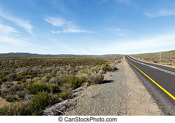 Road from Sutherland South Africa to Tankwa Karoo National...