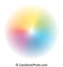 Aura Rainbow Colored Gradient Circl - Aura - circular...