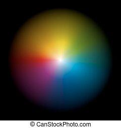 Aura Black Gradient Circle - Iridescent aura - vector...