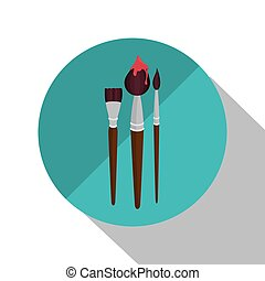 collection brush paint design vector illustration eps 10