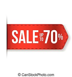 Sale Banner red ribbon