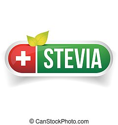 Stevia - Natural Sweetener label vector
