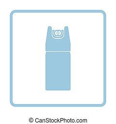 Pepper spray icon Blue frame design Vector illustration