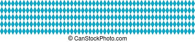 Seamless Rhombus Structure Bavarian National Colors Header -...
