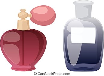 Perfume bottle vector set - Set of vector perfume fashion...
