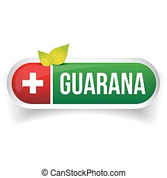 Guarana label vector green