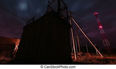 electrical transformer station - Old electrical transformer...
