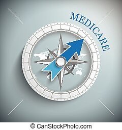 Compass Medicare - Compass with text medicare.