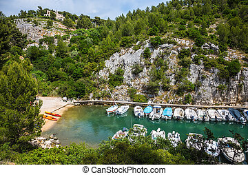 Calanque - small fjord - Good weather in May. Calanque -...