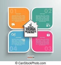 Round Colored Quadrates Template 4 Options House Centre -...