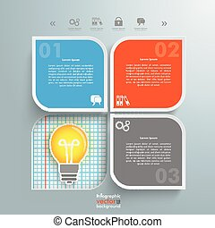 Round Squares 4 Options Hole Bulb Checked Paper -...