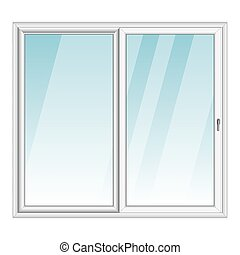 White PVC vector bay window isolated on white background
