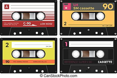 Vintage compact audio cassettes Music cassette tapes, old...