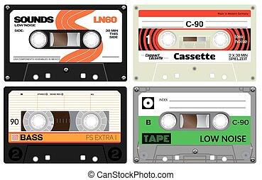 Audio plastic cassette tapes - Vintage cassette tapes....