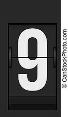flip-flap_004 - Split flap mechanical board detail. Part of...