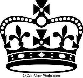 Crown of Britain icon - Crown of Britain black icon, black...