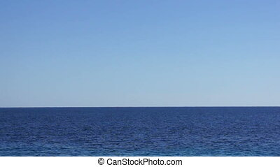 View of skyline in clear blue sea