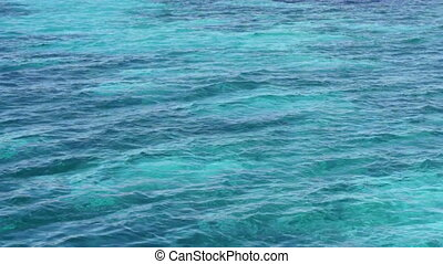 Blue water surface. Background