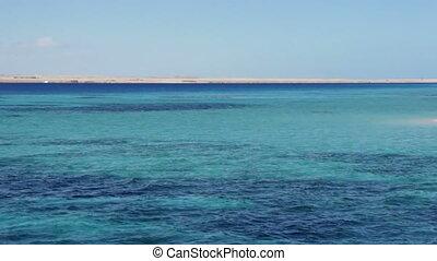 View of serene sea horizon