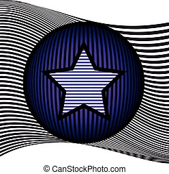 Abstract background with Star on a Circle