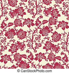 Vector Seamless Floral Pattern - Repeating vector background...