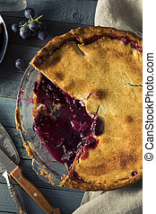Homemade Sweet Concord Grape Pie Ready to Eat