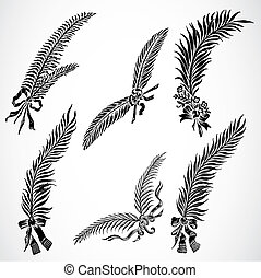 Vector Feather Set