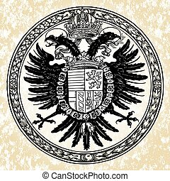 Vector Eagle Seal - Ornate vector eagle ornament. Easy to...