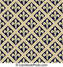 Seamless Fleur De Lys Pattern - Repeating background pattern...