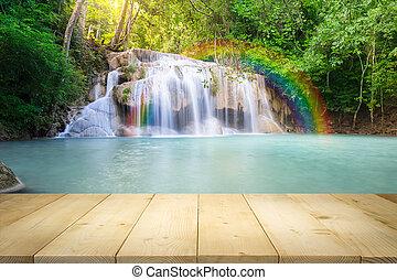 Erawan waterfall Thailand - Scenery of Erawan waterfall...