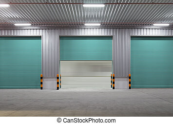 Shutter door night - Shutter door or roller door and...