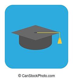 Icon graduate student cap