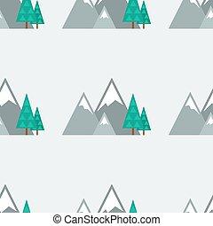 Seamless pattern - winter nature