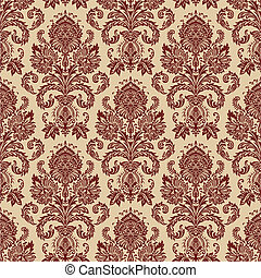 Vector Damask Pattern - Repeating vector background pattern....