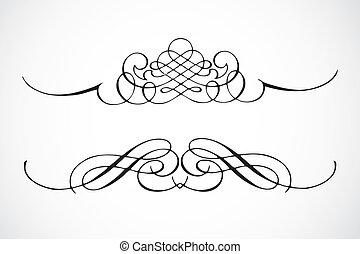 vector, decorativo, marco, Ornamentos
