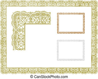 Vector Vintage Decorative Border