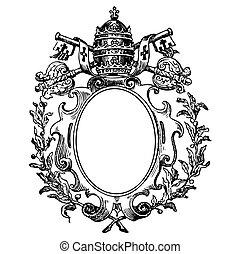 Vector Medieval Crest - Detailed illustration of medieval...