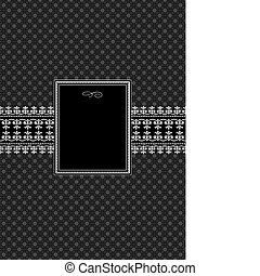 Vector Black Decorative Frame and Pattern