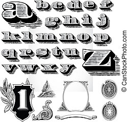 Vector Money Elements - Detailed elements based on a dollar...
