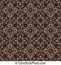Repeating vector background pattern. The pattern is included...