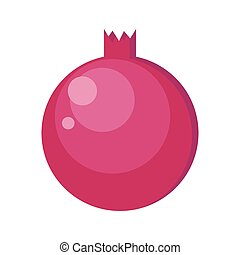 Pomegranates Vector Illustration in Flat Design.