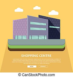 Shopping Centre Web Template in Flat Design - Shopping...