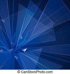 triangle background - collapsing abstract glass background,...