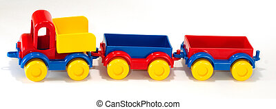 Toy car truck and trailer
