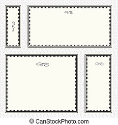 Vector Border Frame Set - Set of highly detailed vector...