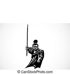 Vector Samurai Warrior - Iconic samurai illustration. Easy...