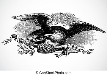 Vector Eagle - Detailed eagle illustration. Easy to scale to...