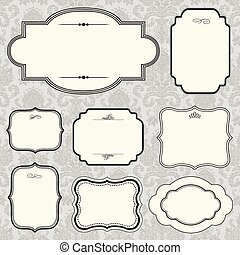 Vector Rounded Frame Set - Set of highly detailed vector...