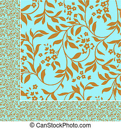 Vector Seamless Floral Pattern - Repeating vector floral...
